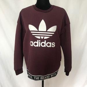 Adidas Purple Sweater Pullover Sweatshirt Small